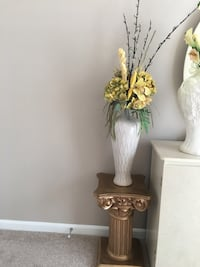 Silk Flowers with Vase