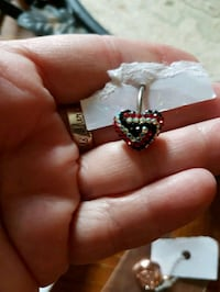 Crystal heart belly button ring Whitby, L1N 8X2