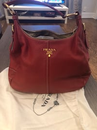 Red Prada hand bag for $750 Toronto, M2N 2A3