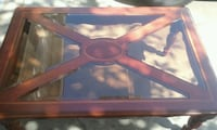 Wood and Glass inlay Coffee Table