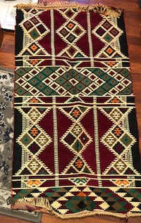 black, white, and red area rug Lorton, 22079