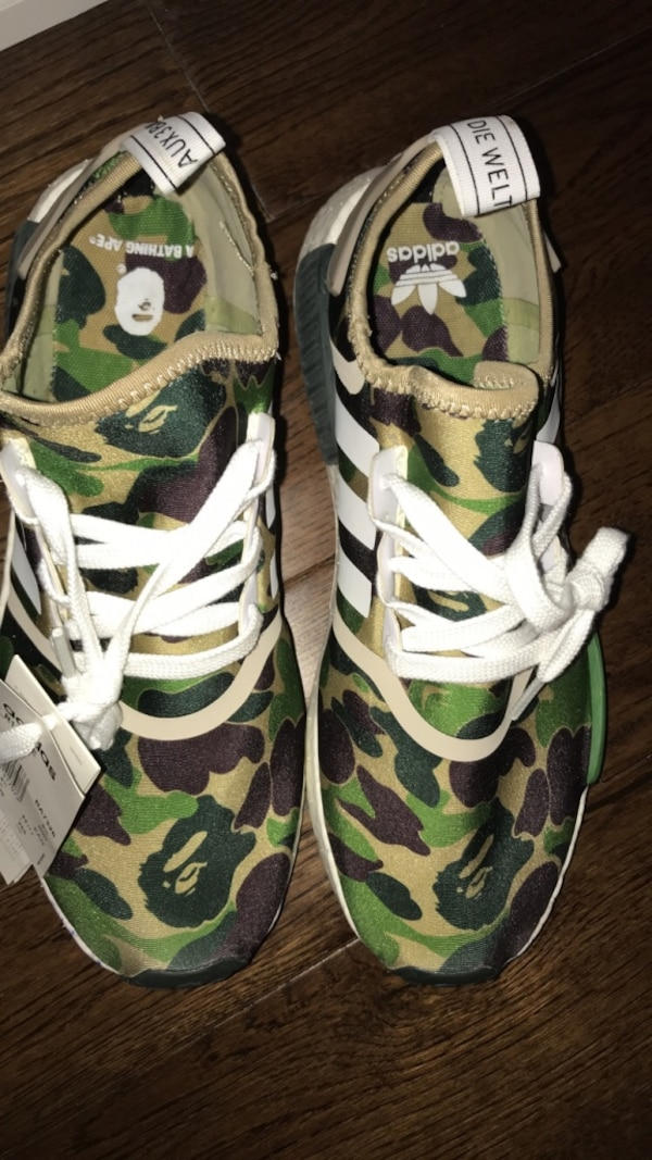cb94a6768782a Used Bape x Adidas NMD R1 Olive Camo for sale in Mississauga - letgo