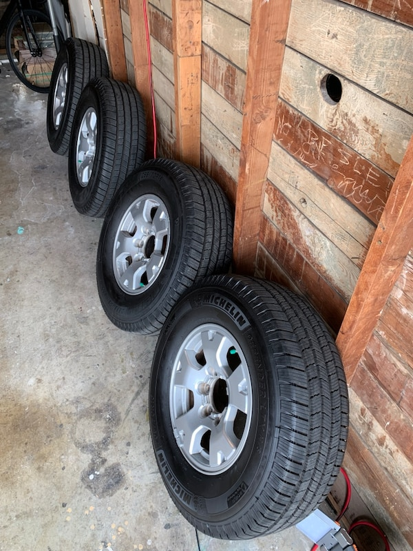 Michelin Off Road Tires >> 4 Michelin Defender Ltx All Season M S Tires And Lugs With Wheel Lock Plus Tacoma Trd Off Road Wheels With Caps Included