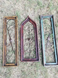 three wooden framed scrolled panels Edmond, 73013