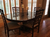 Paula Dean Dining Set- very nice set - One chair bottom has been repaired and stained to match. See photos Canton, 30115