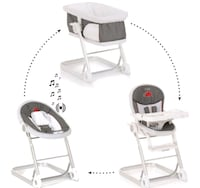 3 in 1 highchair, lounger and bassinet Newmarket, L3Y 5E1