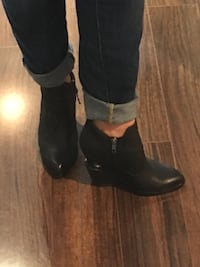 ASH - wedge leather boots - size 37/7.5 Vancouver, V5R 0B2