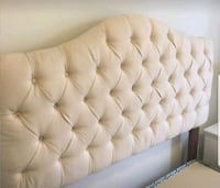 tufted white leather bed headboard Calgary, T2Z 4T8