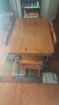 brown wooden table with chair HERNDON