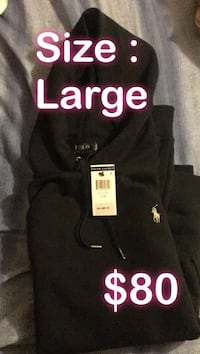 Size large dark blue polo by ralph lauren pullover hoodie Richmond Hill, L4C