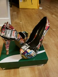 pair of black-and-red platform stilettos Alexandria, 22305
