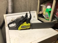 black and green Ryobi chainsaw East Northport