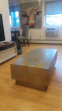 West elm metalic patchwork coffee table