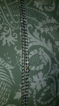 18k gold tennis chain w quality simulated diamonds Round Hill, 20141