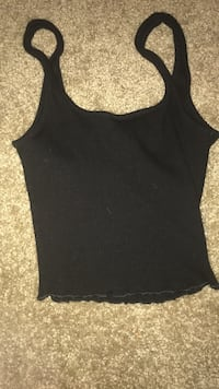 Crop top in the color black size extra small  2238 mi