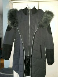 black and gray fur coat Point Zero Mississauga, L5R 2W8