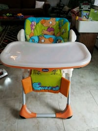 baby's yellow and blue high chair Gaithersburg, 20879
