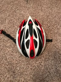 white and red bicycle helmet 1337 mi