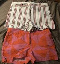 Two Pair Ann Taylor Loft Shorts Size 12 The Striped Ones Are Brand New Longwood, 32750