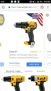 20v DeWalt drill with extra battery and charger Chattanooga, 37421