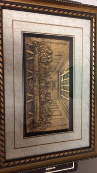 brown wooden The Last Supper painting
