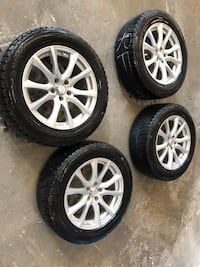 235 50 18 winter tires on alloy rims  Toronto, M9M 3A1