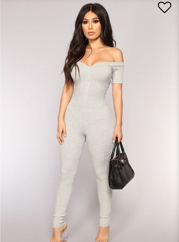 01cd47c85ac Used Fashion Nova Women s grey jumpsuit for sale in Vaughan - letgo