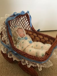 "8"" porcelain baby in buggy. price Firm Las Vegas, 89131"