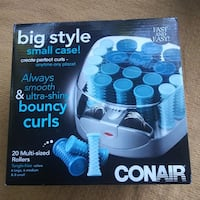 NEW CONAIR HS34XAM COMPACT MULTI-SIZE HOT ROLLERS; BLUE New Port Richey