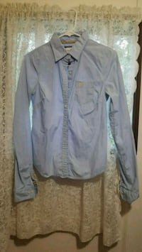 Large Abercrombie and Fitch Blue Dress Shirt