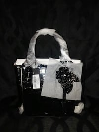 black and white leather tote bag Jefferson City, 65101