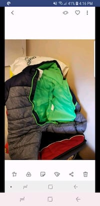 green and blue zip-up snowsuit 6to9 months Cambridge, N1R 5S2