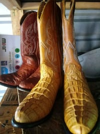 pair of brown leather cowboy boots Houston, 77041