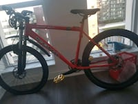red and black hardtail mountain bike Toronto, M5A 1G1