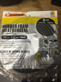 Rubber foam weatherseal self stick tape