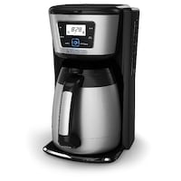 """""""Black + Decker Sliver Thermal Coffeemaker - New in BoxDescription & Features Get your fix throughout the day with the BLACK + DECKER CM2036SC 12-Cup Thermal Coffeemaker. The stainless steel thermal carafe is vacuum-sealed to ensure your coffee stays hot  Toronto"""
