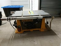 DeWALT table saw. BARELY USED. Great shape!!