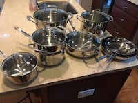 Gently used 13-piece stainless steel Calphalon cookware set Arlington, 22201