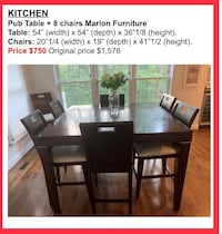 Kitchen table for 8. Splendid piece of furniture at a ridiculous price! Rockville, 20854