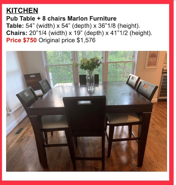 Kitchen table for 8. Splendid piece of furniture at a ridiculous price! 5b6185a8-bee0-473d-820e-fcbc78a3538e
