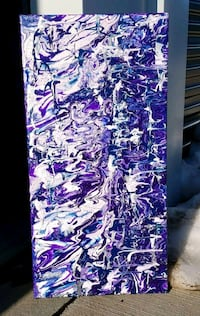 """PRPL Abstract Painting on Canvas (12x24"""") Sioux Falls, 57104"""