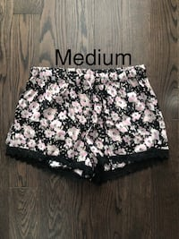 Pink and Black Silky Shorts Orangeville, L9W 5T9