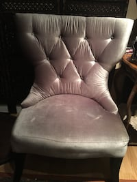 Grey velvet chair tufted with crystals Ancaster, L9G 3K5