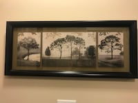 black wooden framed painting of trees Raleigh, 27603