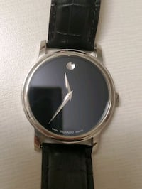 Men's Movado Museum Classic Strap Watch with Black Dial 44mm Toronto, M5A 1Y6