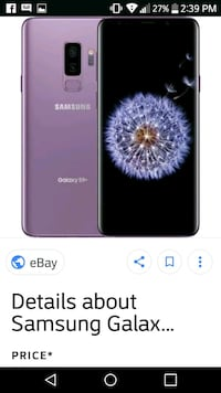Purple samsung 9 plus 64gb Langley, V2Y 1S1