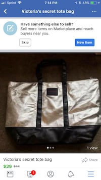 gray and black leather tote bag Ann Arbor, 48108