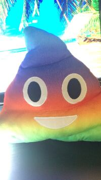 Rainbow poop pillow  Vancouver, V5P