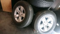 2015 dodge ram stock rims with tires  Surrey, V3S 6A2