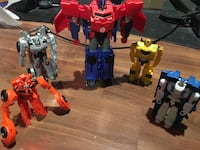 Transformers, quick change and one Dino bot. Calgary, T3E 5R3